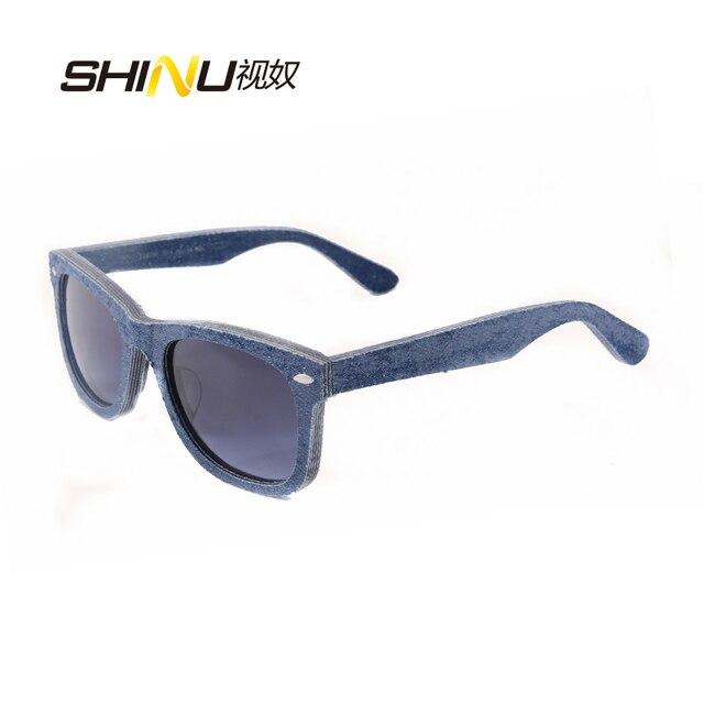 6c1953ec81 Hot Sale Handmade Genuine Denim Sunglasses Polarized Women Men Brand Designer  Sunglasses Vintage Washable Glasses Gafas De Sol