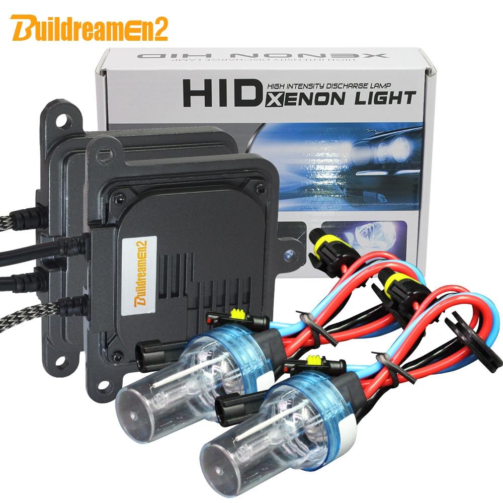 Buildreamen2 55W 10000LM AC Kit Xénon Ballast Ampoule Lumière De Voiture Phare Antibrouillard 9005 HB3 9006 9007 H1 H3 H4 H7 H8 H11 8000K 12V