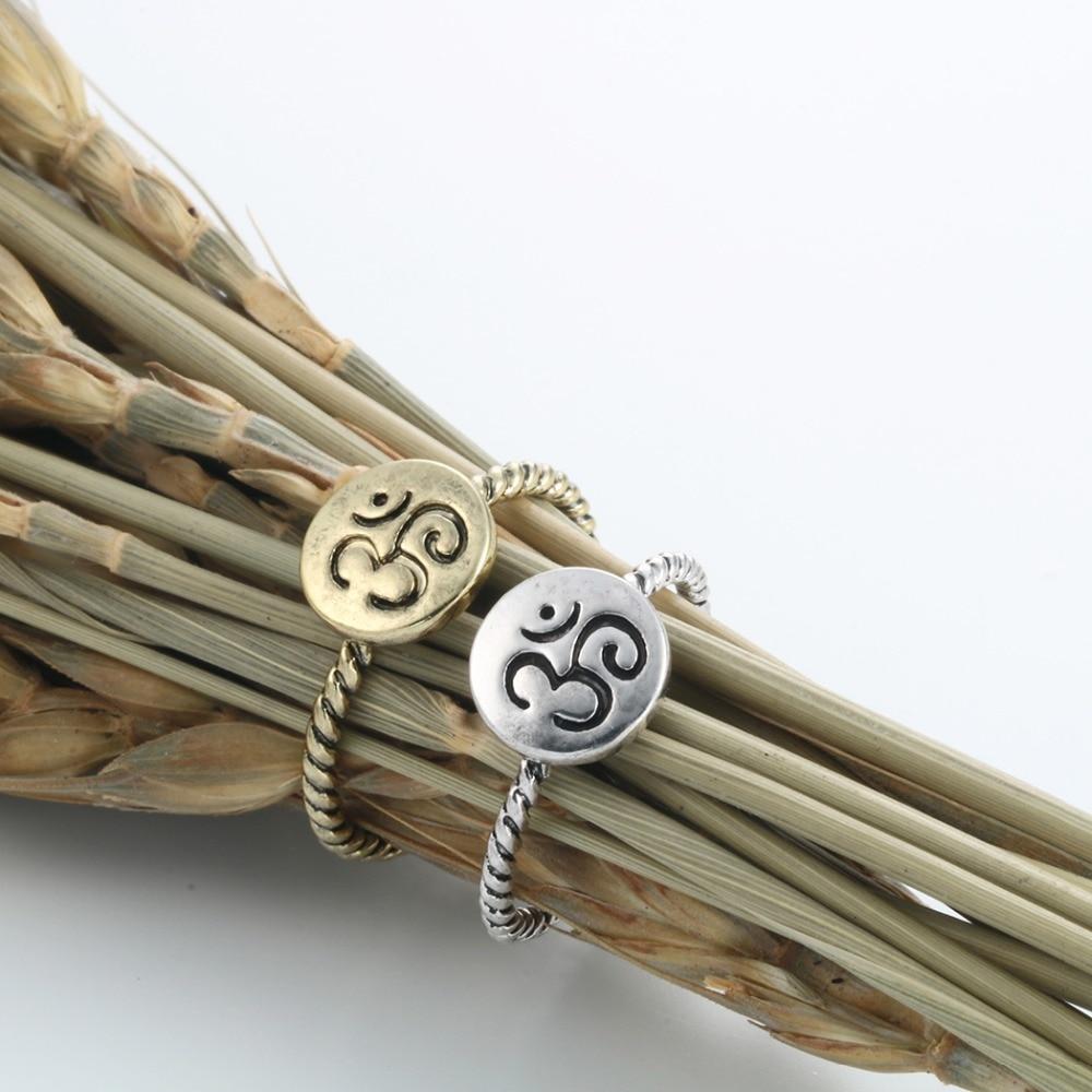 Chandler Unique Twist OM Symbol Midi Rings Round Charm Yago Jewelry Antique  Bronze Plated Friendship Birthday Gift