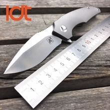 LDT A2 Military Folding Blade Knives VG10 S35VN Blade Titanium Handle IKBS Camping Knife Tactical Outdoor Survival Pocket Tools