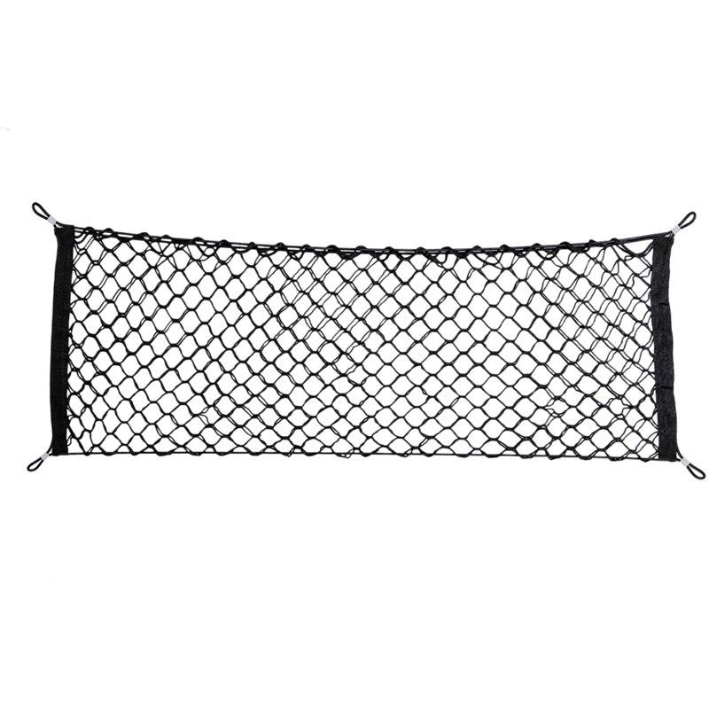En nylon De Voiture De Stockage Net Maille Hayon 90 cm-35 cm Bagages Arrière Cargo Trunk Organisateur De Stockage supplémentaire pour SUV/RV hayon