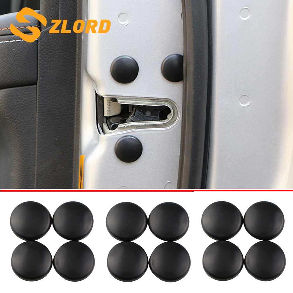 Zlord Car Abs Door Lock Screw Cover For VW Tiguan Touran Golf Jetta Polo UP For SEAT Leon Ateca Ibiza Altea Accessories