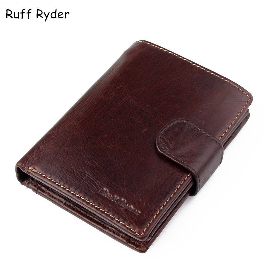 Ruff Ryder 2017 NEW Cowhide Genuine Leather Men Wallets Fashion Purse With Card Holder Hight Quality Vintage Short Wallet Clutch 2017 new cowhide genuine leather men wallets fashion purse with card holder hight quality vintage short wallet clutch wrist bag
