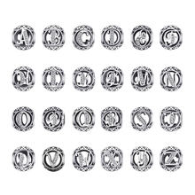 JewelryPalace Initial 925 Sterling Silber Vintage Alphabet Brief Perlen Charms Silber 925 Original-Fit Armbänder 925 Original(China)