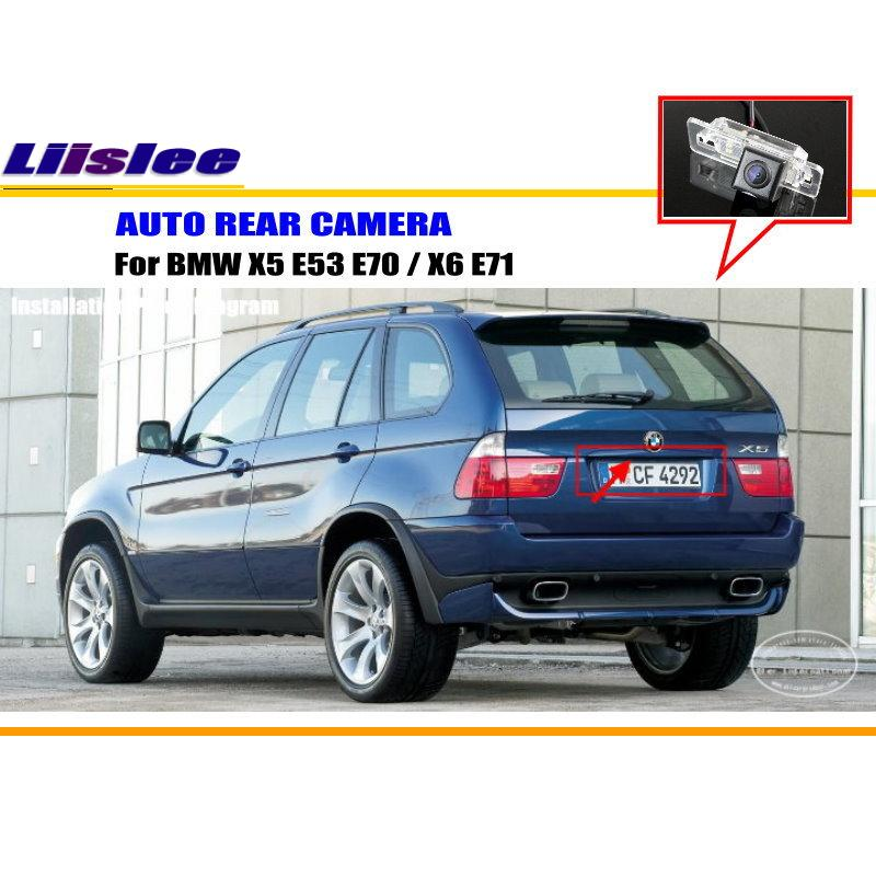Liislee For BMW X5 E53 E70 / X6 E71 - Rear View Camera / Backup Parking Camera / HD CCD RCA NTST PAL / License Plate Light CAM