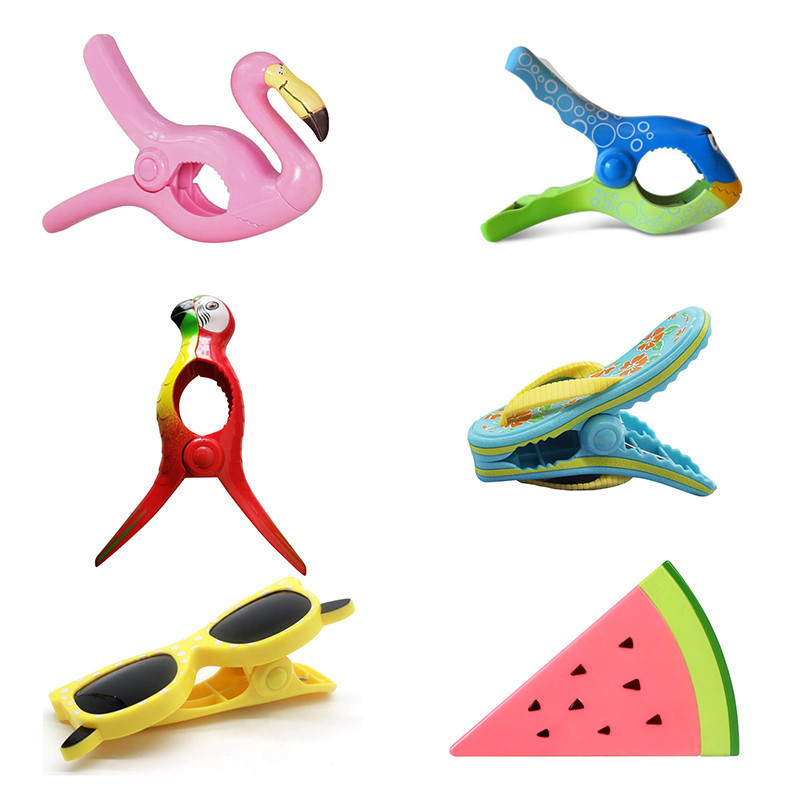 Stronging Plastic Color Clips Animal Type Beach Towel Clamp To Prevent the Wind Clamp Clothes Pegs Drying Racks Retaining Clip-in Clothes Pegs from Home & Garden
