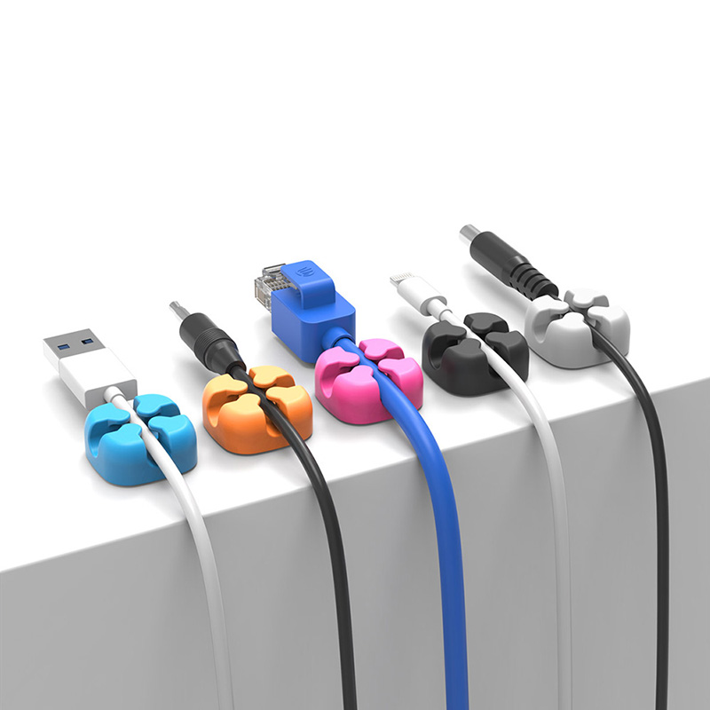 1Pcs Colorful Cable Winder Wire Storage Silicon Cable Manager Holder Desk Tidy Organiser For Digital Cable