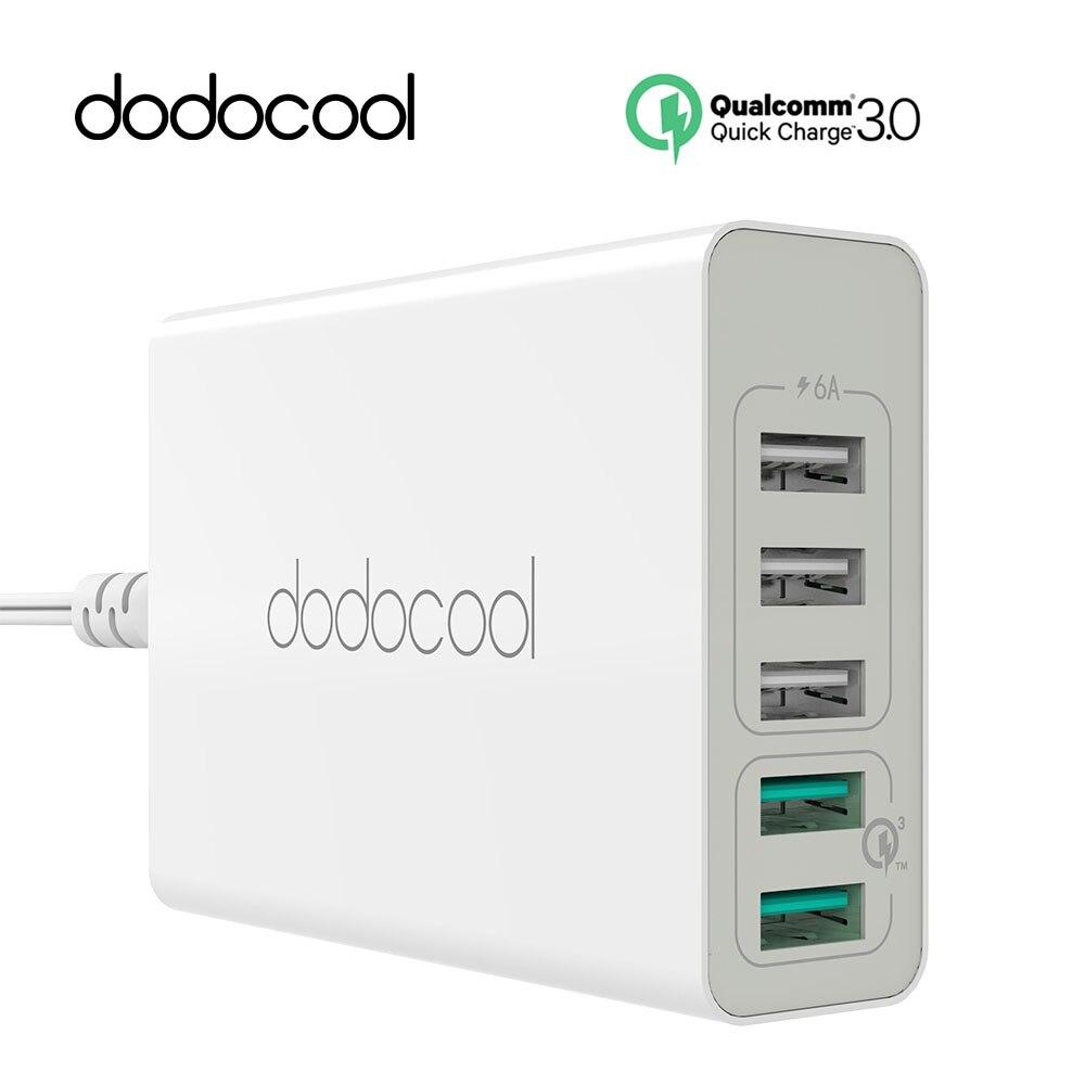bilder für Dodocool 60 Watt Quick Charge 3,0 5 Ports Usb-ladegerät QC3.0 Handy-ladegerät für Handy iPhone 7 Plus Huawei HTC LG USB ladegerät