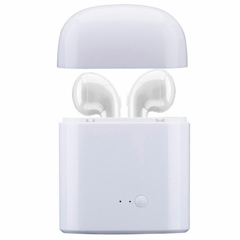 Mini Bluetooth Earphone i7 TWS Wireless Earbuds Portable Headphone Phone Earphone with Mic For iOS Android phone + Charger Case portable wireless bluetooth for ipad ios android mobile phone barcode scanner mht 2015