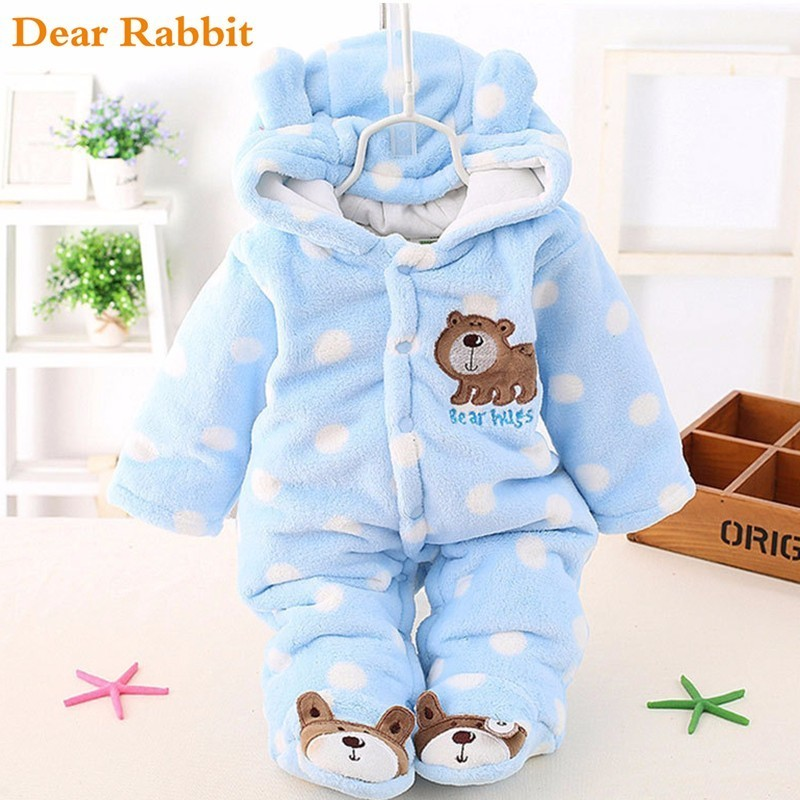 DEAR RABBIT baby Plus velvet thicker winter clothing