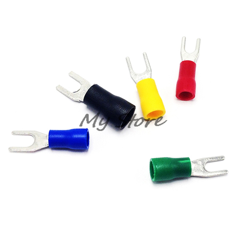 100PCS SV1.25-3.2 SV1.25-4 SV1.25-5 SV1.25-6-8 Red Furcate Fork Spade 22~16AWG Wire Crimp pressed terminals Cable Wire Connector100PCS SV1.25-3.2 SV1.25-4 SV1.25-5 SV1.25-6-8 Red Furcate Fork Spade 22~16AWG Wire Crimp pressed terminals Cable Wire Connector
