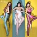 Hot Sexy Ultrafinos Medias Altas medias Del Muslo de La Cintura Sexy Ropa Interior Para Mujer Bragas Entrepierna Abierta Lencería Erótica SW045
