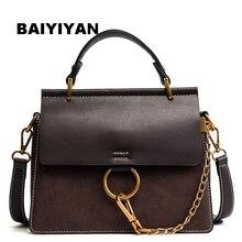 hot deal buy  baiyiyan brand circle ring messenger bags women scrub style handbag girls shoulder bag fashion chain totes vintage bag