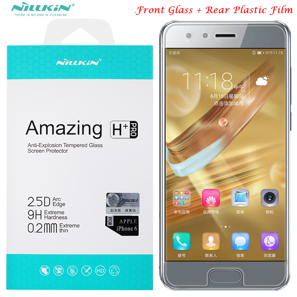 glass screen protector For huawei honor 9 nillkin 9H H+ PRO Nano honor9 honor 9 tempered glass + back rear plastic film
