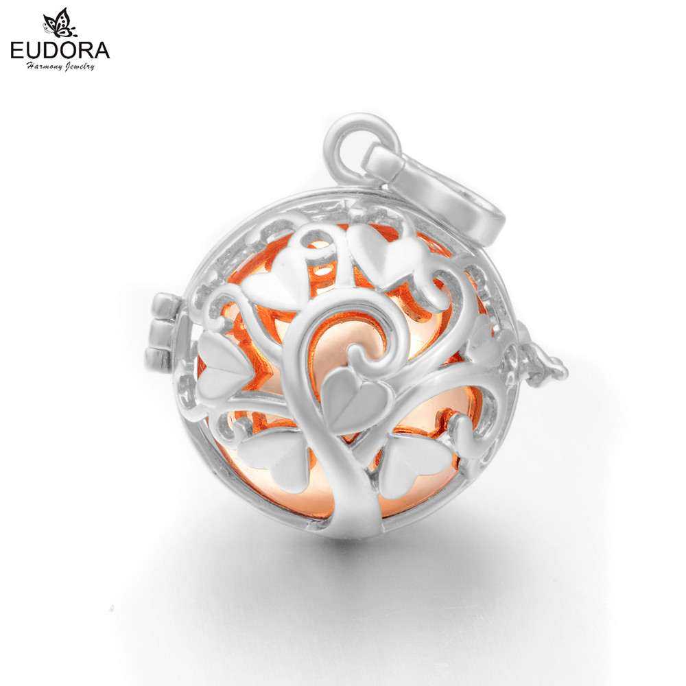 Angel Caller Harmony Ball Lockets Cage Mexican Bola Ball Tree of Love Chime Pregnant Musical Ball Chain Necklace Pendant