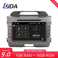 LJDA 8 Inch 2 DIN Android 9.0 Car DVD Player For KIA Sportage 2010 2015 Radio Audio WIFI Canbus GPS Navigation Stereo Bluetooth