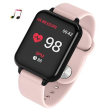цены на B57 Women smart watch heart rate Sport watch men Mp3 smart bracelet smart wristband Fitness tracker Pk mi band 4 Pk honor band 5  в интернет-магазинах