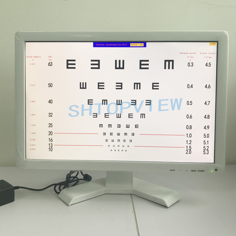 China VC 3 19 Inch eye Vision test screen LCD Visual Panel Chart for sale