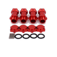Wheel Hex Hub M17 17mm M37 37mm Extension Adapter 12mm Anti Dust Cap x 4 Longer Combiner Coupler For 1/8 RC Model Car HSP