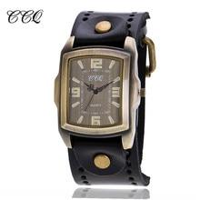CCQ Marque Vintage En Cuir de Vache Bracelet Hommes Montre-Bracelet Occasionnelle De Luxe Nombre Romain Quartz Montre Relogio Masculino Horloge Heures C22