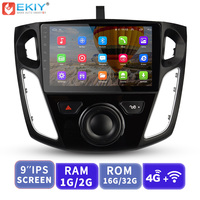 EKIY 9'' IPS Car Multimedia Video Player GPS Navigation Android Autoradio For Ford Focus 3 2012 2015 Head Unit with 4G Modem