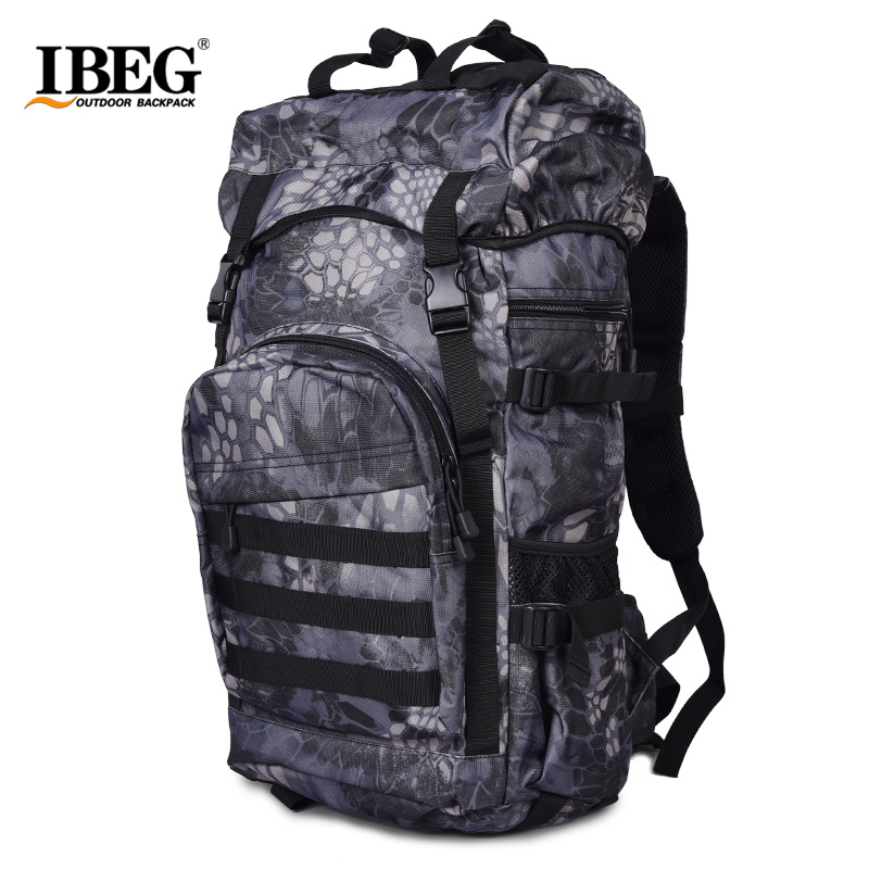 large 50L Waterproof military tactical Sport travel outdoor backpack Rucksack Bag With Rain cover Men's women's lightweight bag field tactical chest sling pack outdoor sport a4 one single shoulder man big large ride travel backpack bag advanced tactical