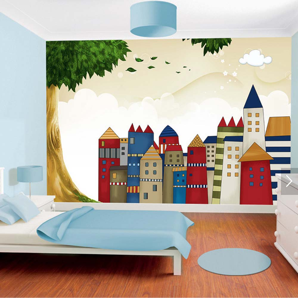3d Wallpaper Walls For Living Room Kids Bedroom Carton Wallpaper Papier Peint Roll Custom Size Large Photo Mural