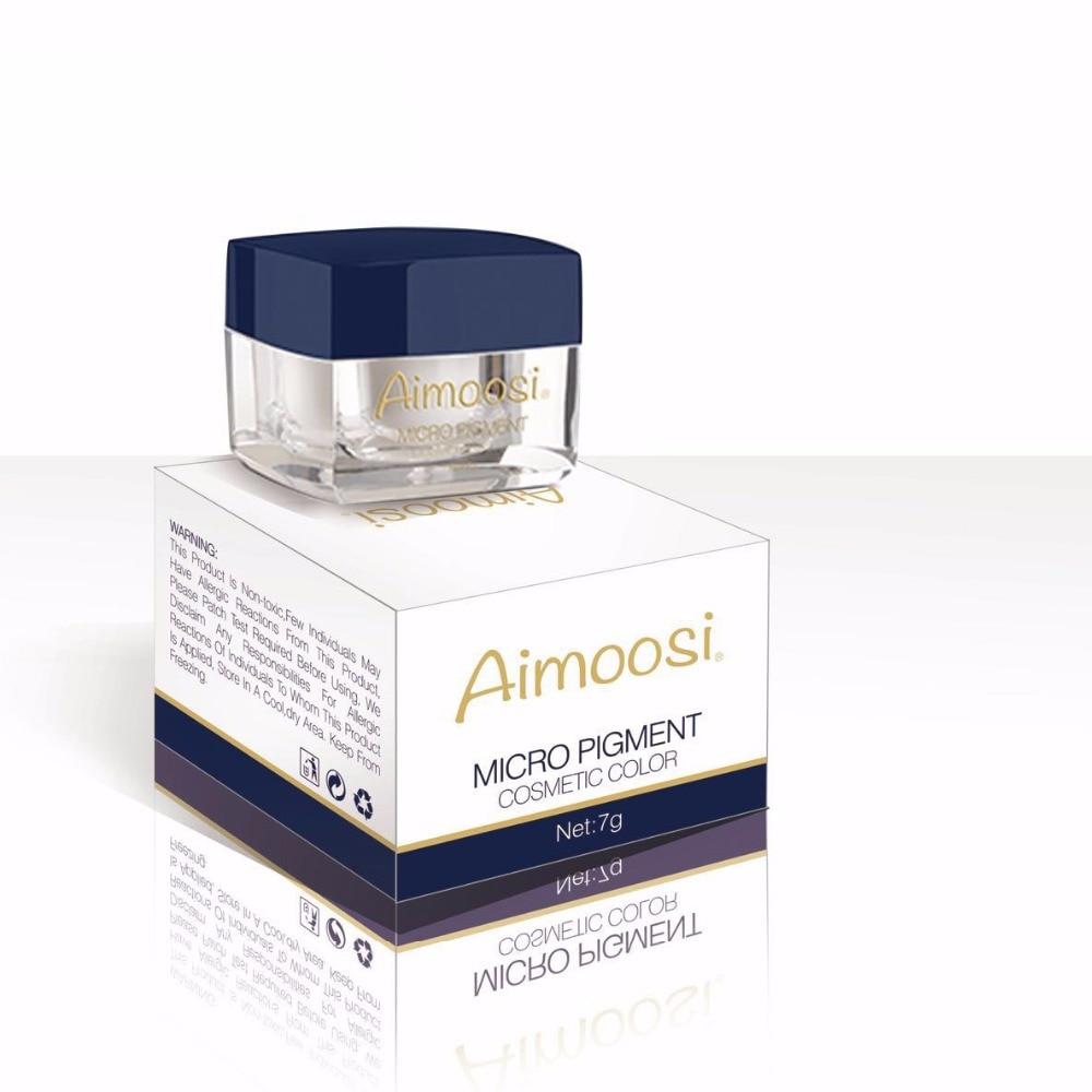 3pcs Aimoosi Microblading 반영구적 메이크업 문신 잉크 안료 눈썹 문신 화장 용 12 색 무료 배송