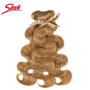 Image 3 - Sleek Mink Blonde Colored 27and 613 Brazilian Body Wave Remy Hair Weave Bundles 10 To 26 Inches Hair Extension Free Shipping