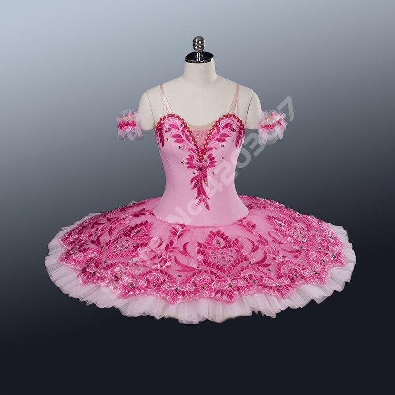 Adulte cygne robe professionnel Ballet Tutu rose femmes Performance scène Ballet robe filles danse porter ballerine robe enfants B1250A