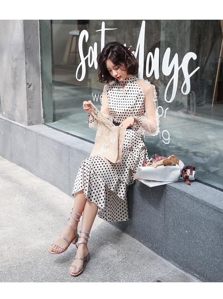 lange nieuwe Fashion jurk 6