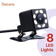 Seicane Универсальная автомобильная камера заднего вида 8 светодиодный пластиковый 648*488 пикселей проводной Обратный парковочный резервный монитор Комплект CCD CMOS