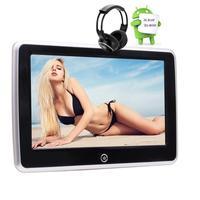 Android автомобильный подголовник монитор плеер 10,1 ''сенсорный экран монитор заднего сиденья подголовник HDMI FM wifi четырехъядерный + IR наушники