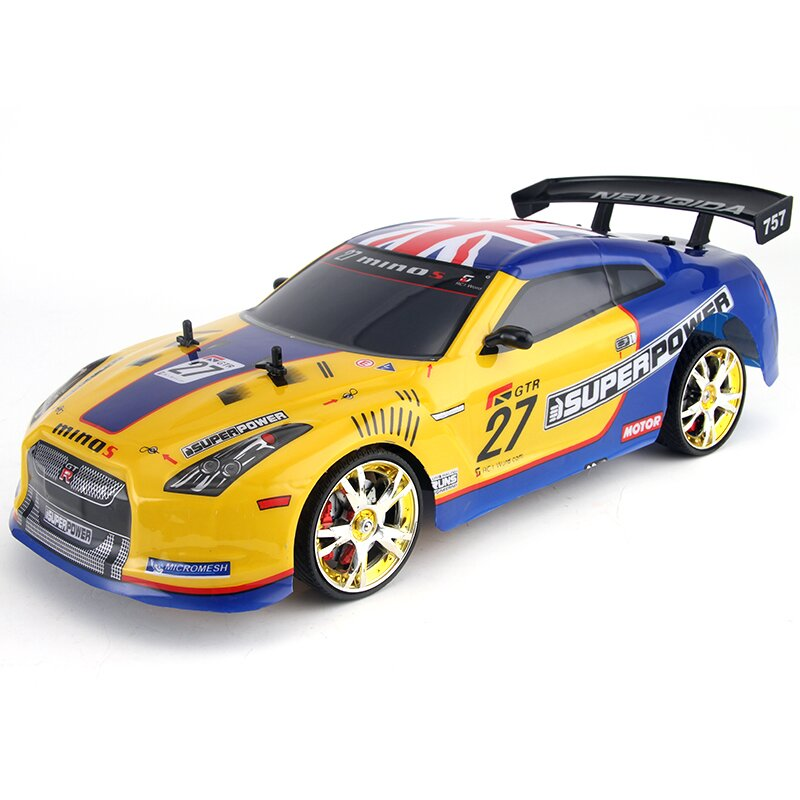 RC Car Drift For GTR Mitsubishi 4WD 2.4G 1/10 High Speed Racing Vehicles Radio Control  Monster Truck BuggyElectronic Hobby Toy
