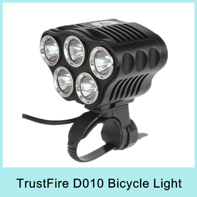 Newest TrustFire TR-D010 5*Cree XM-L T6 LED 2800LM Bicycle Bike Light Lamp Flashlight Front Light Handlebar Drop Shipping