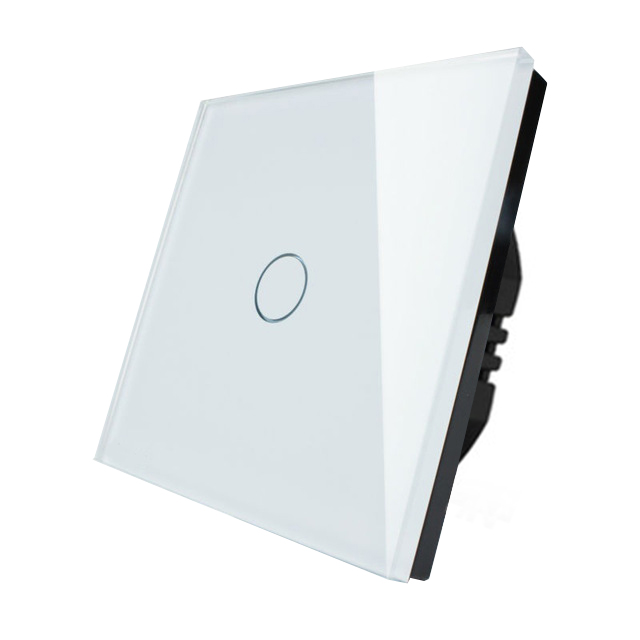 1 Gang 1 Way Touch Switch 220V EU Standard Wall Light Touch Screen Switch Crystal Glass Panel Touch Switch LED