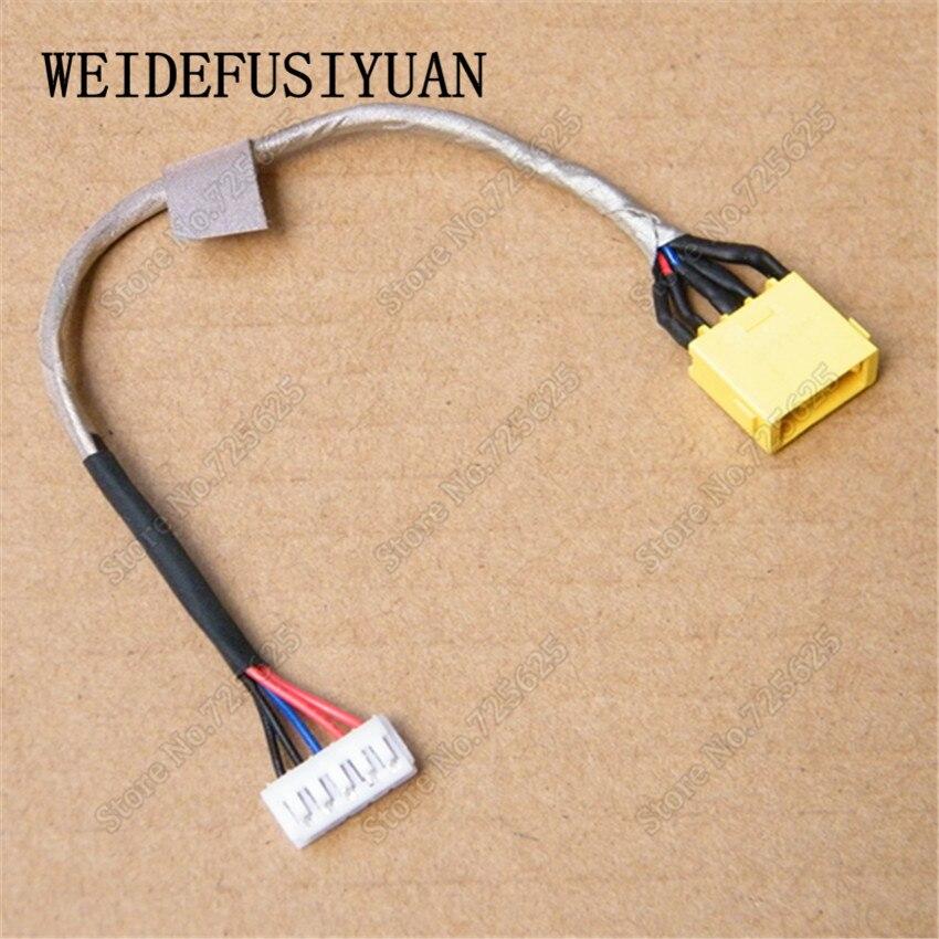 Nouveau ac dc power jack harnais câble pour lenovo ideapad z710 z710-5938 z710-5939 z710-5940 z710-20250 ordinateur portable prise de charge port
