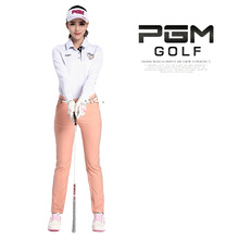 Hot 5 Colors PGM Brand Outdoor Sports Polo Long Sleeve Collar Cotton Golf Shirt Women Durable Elastic Golf Clothes for Autumn