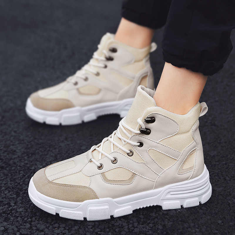 REETENE 2019 Nieuwe Casual Mannen Laarzen Lente Herfst Mannen Laarzen Mode Slijtvast Laarzen Mannen Non-Slip Outdoor mannen Schoenen Maat 39-47