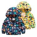 Baby jacket spring 2017 new kids children's cartoon Hooded Zip Sweater boy mesh cardigan coat