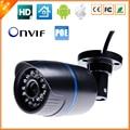 48 V HD 720 P Megapixel Câmera IP PoE Power Over Ethernet RI bala IP Câmera Ao Ar Livre Indoor IR Cut 1080 P ONVIF Lente ABS plástico
