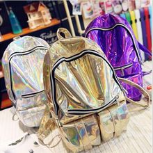 Harajuku 3D голографические CD пакет рюкзак сумка мертвая муха Симфония Отдела Г-Жа пустой женский блестящий сумка рюкзак прилива
