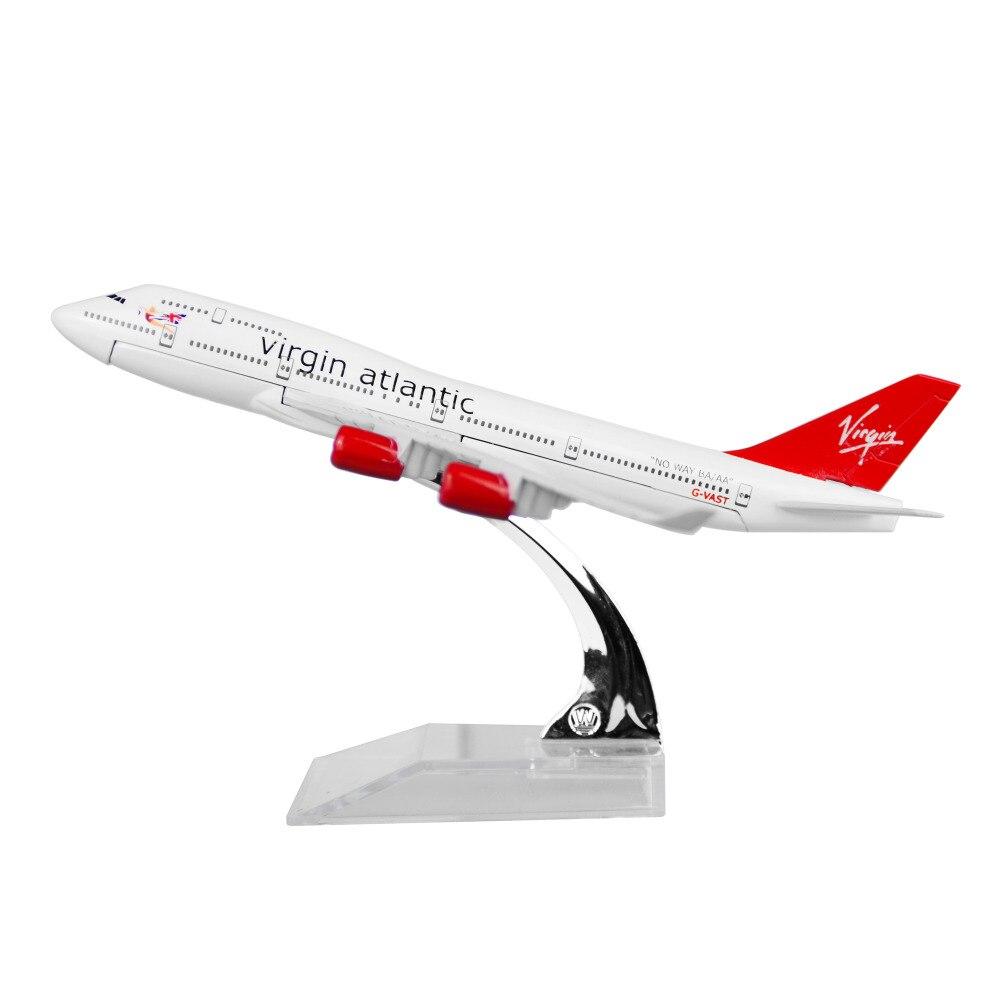 England British Virgin Atlantic Airways B747 Plane Model Metal 16cm Child Birthday Gift Chiristmas Free Shipping