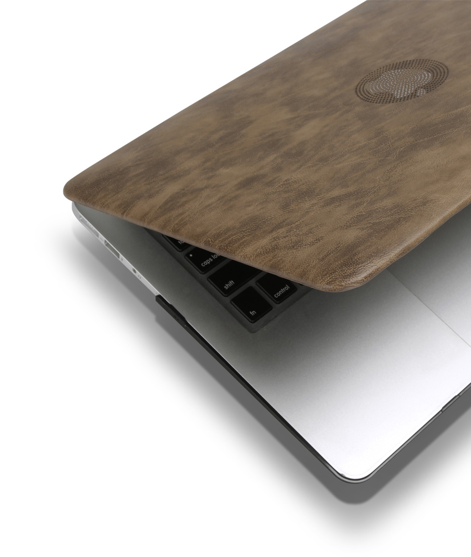 PU leather Hard Case for MacBook 15