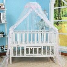 Новая складная детская противомоскитная сетка, кружевная подвесная купольная сетка от комаров для детской кроватки в стиле Корта, Детская балдахин для детской кроватки, Детские балдахины