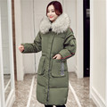 Plus Size 5XL Winter Jacket Women Hooded Fur Collar Wadded Cotton Jacket Parkas Maxi Coats Long Jacket Padded Coat Women C2642