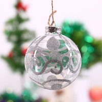 Christmas Tree Pendant Ornament Ball Silver S String Hanging Party Decoration Glass Ball Wedding Centerpieces Freeshipping