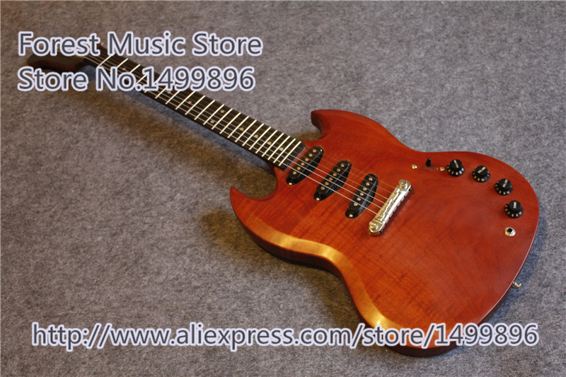 China Stain Finish SG Custom Electric Guitars Three Pickups Firebird Guitar Head As Picture цена и фото