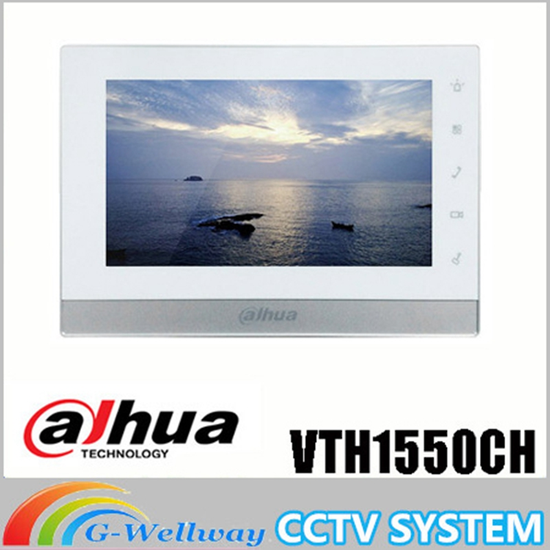 Original 7 Inch Touch Screen Brand VTH1550CH Indoor Color Monitor Video Phone Video Intercom Brand video door phone original 7 inch touch screen brand vth1510ch color monitor with vto2000a outdoor ip metal villa outdoor video intercom sysytem