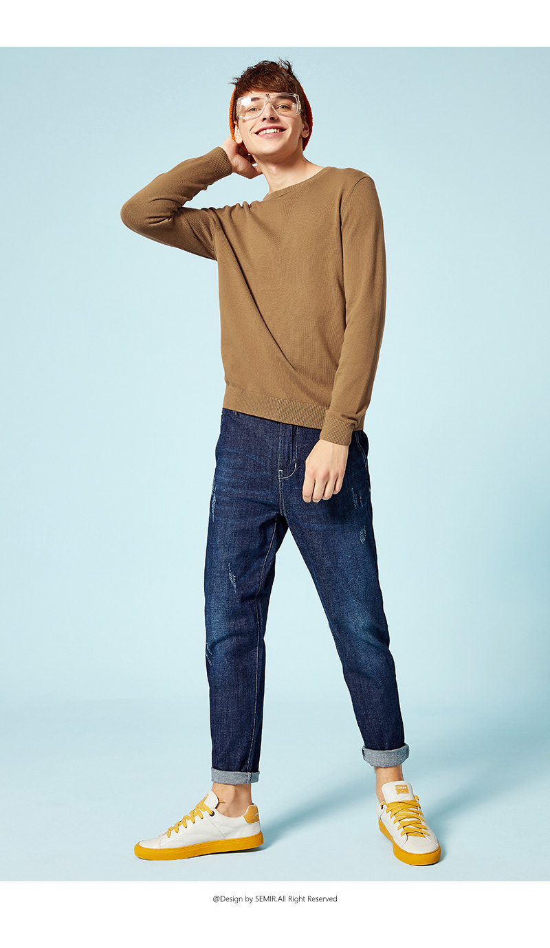 SEMIR New Brand Wool Sweater Men 19 Autumn Fashion Long Sleeve Knitted Pullover Men Cashmere Sweater High Quality Clothes 17